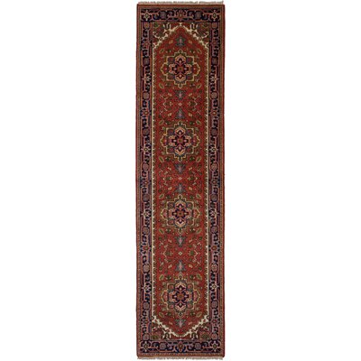 One-of-a-Kind Briggs Hand-Knotted Wool Dark Copper Area Rug
