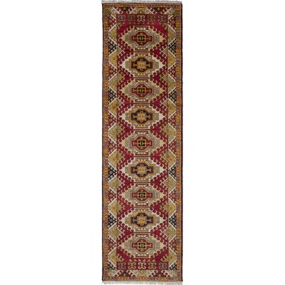 One-of-a-Kind Berkshire Hand-Knotted Wool Dark Red Area Rug
