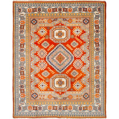 One-of-a-Kind Berkshire Hand-Knotted Wool Dark Copper Area Rug