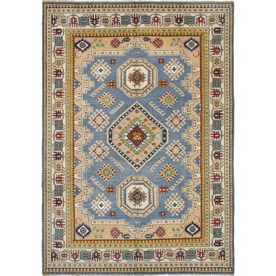 One-of-a-Kind Berkshire Hand-Knotted Wool Light Denim Blue Area Rug