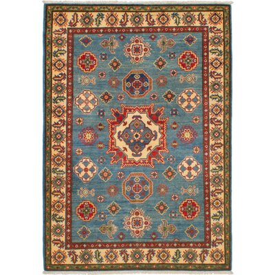 One-of-a-Kind Bernard Hand-Knotted Wool Blue Area Rug