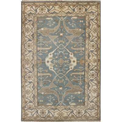 One-of-a-Kind Li Hand-Knotted Wool Gray/Beige Area Rug