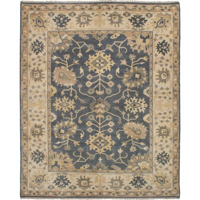 One-of-a-Kind Li Hand-Knotted Wool Dark Gray Area Rug