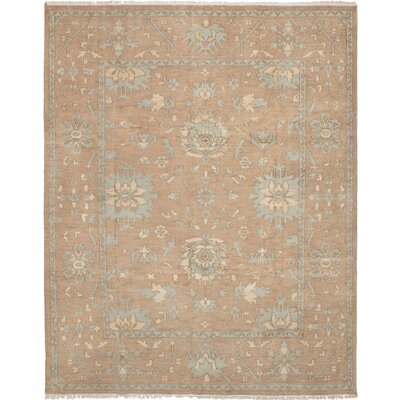 One-of-a-Kind Li Hand-Knotted Wool Brown Area Rug