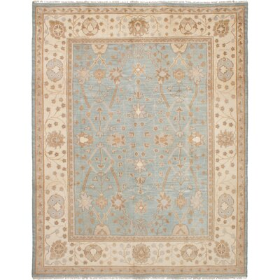 One-of-a-Kind Li Hand-Knotted Wool Light Blue Area Rug