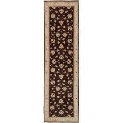 One-of-a-Kind Charlena Hand-Knotted Wool Dark Brown Area Rug