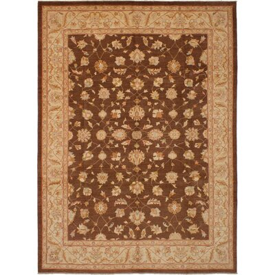 One-of-a-Kind Charlena Hand-Knotted Wool Brown Area Rug