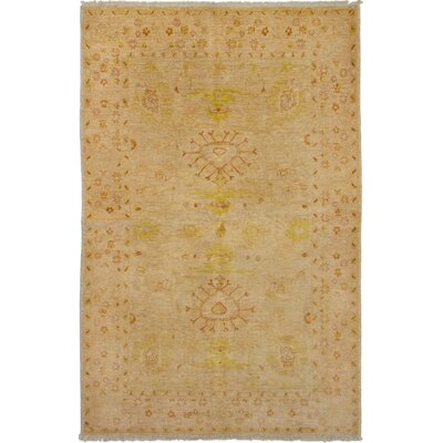 One-of-a-Kind Gordan Hand-Knotted Wool Tan Area Rug
