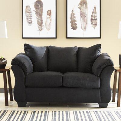Parthena Loveseat Upholstery: Black