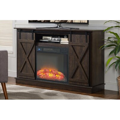 Quance 66 TV Stand with Fireplace
