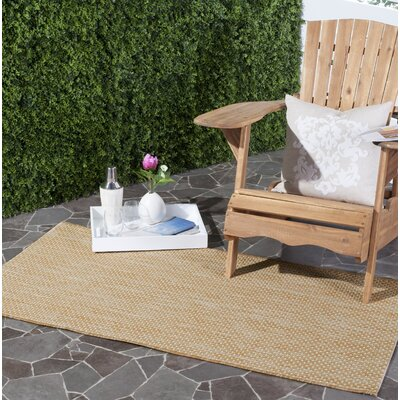 Mullen Solid Natural/Cream Indoor/Outdoor Area Rug Rug Size: Rectangle 2 x 37