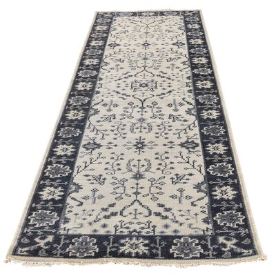 One-of-a-Kind Oceane Knot Oushak Hand-Knotted Area Rug