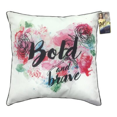 Disney Beauty & the Beast Bold and Brave Throw Pillow