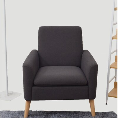 Garnes Armchair Upholstery: Anthracite