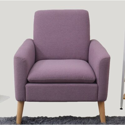 Garnes Armchair Upholstery: Purple