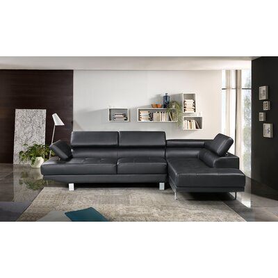Yager Sectional Upholstery: Black