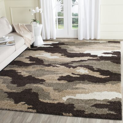 Hanover Beige/Brown Area Rug Rug Size: Rectangle 8 x 10
