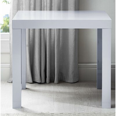 Carissa End Table Color: Gloss Grey