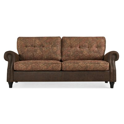 Kentwood Sofa Upholstery: Paisley Saddle Brown
