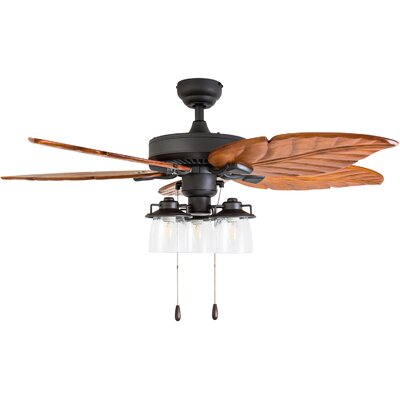 52 Columbus 5 Blade LED Ceiling Fan Accessories: Standard No Remote