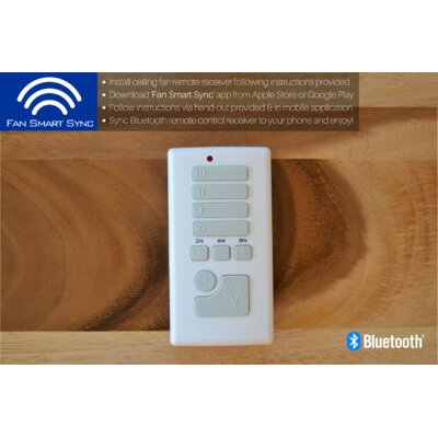 52 Wetherington 5 Blade Ceiling Fan Accessories: Bluetooth Enabled Remote