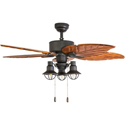 52 Franklinton 5 Blade LED Ceiling Fan Accessories: Standard No Remote