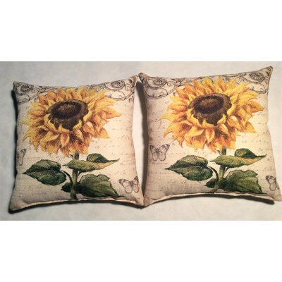 Hoerner Sunflower Linen Throw Pillow