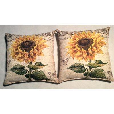 Hoerner Sunflower Linen Throw Pillow