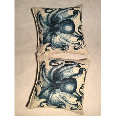 Cassella Octopus Linen Throw Pillow