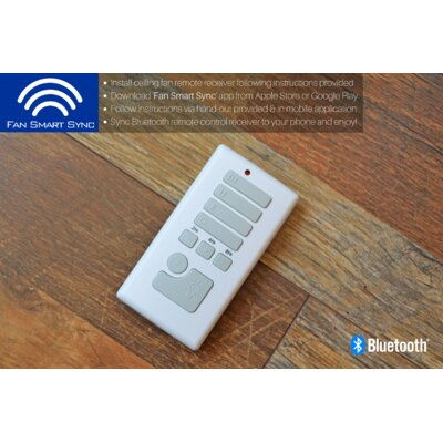 52 Tyntesfield 5 Blade Ceiling Fan Accessories: Bluetooth Enabled Remote