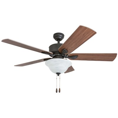 52 Plante 5 Blade LED Ceiling Fan Accessories: Standard No Remote