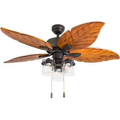 52 Lambeth 5 Blade LED Ceiling Fan Accessories: Standard No Remote