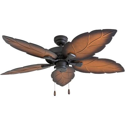 52 Moorton 5 Blade Ceiling Fan Accessories: Standard No Remote