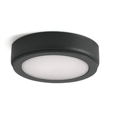 6D LED Under Cabinet Puck Light Finish: Black, Bulb: 3000K