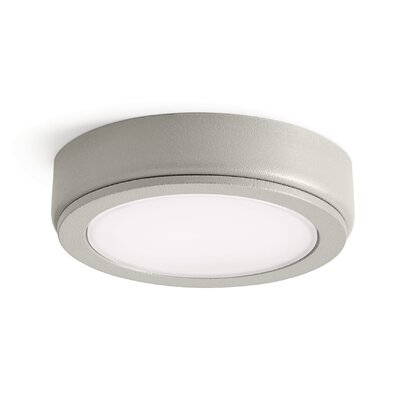 6D LED Under Cabinet Puck Light Finish: Nickel, Bulb: 3000K