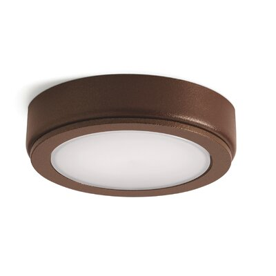 6D LED Under Cabinet Puck Light Finish: Bronze, Bulb: 3000K