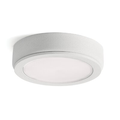 6D LED Under Cabinet Puck Light Finish: White, Bulb: 2700K
