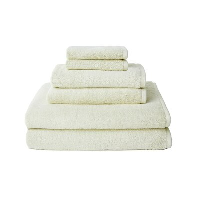 Hester Street Quick Dry 6 Piece Towel Set Color: White