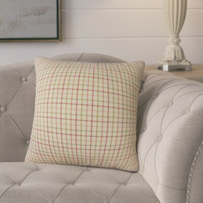Farizon Plaid Down Filled 100% Cotton Throw Pillow Size: 24 x 24