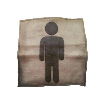 Henn Female Silhouette Wool Throw Pillow