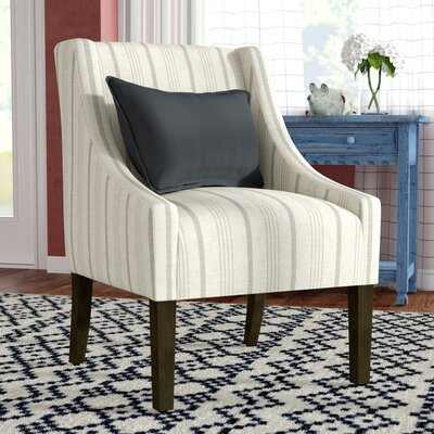 Londonshire Swoop Armchair Upholstery: Gray/Cream