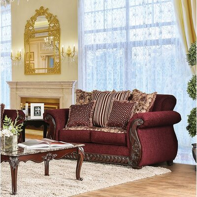 Chateau Standard Loveseat Finish: Wine