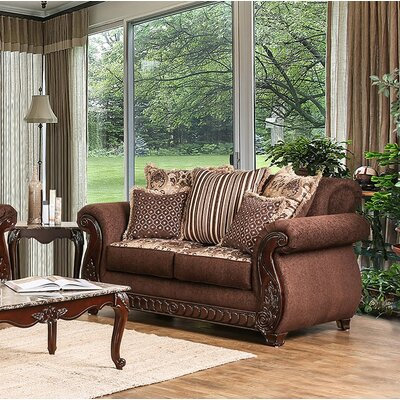Chateau Standard Loveseat Finish: Brown