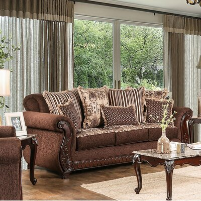 Chateau Standard Sofa Finish: Brown
