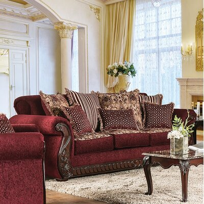 Chateau Standard Sofa Finish: Wine