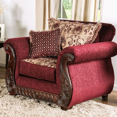 Chateau Armchair Finish: Wine