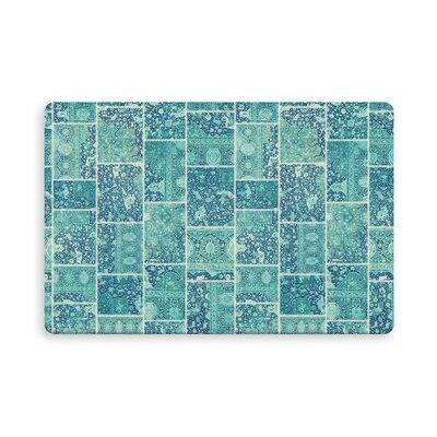 Houston Patchwork Indoor/Outdoor Doormat Mat Size: Rectangle 16 x 23, Color: Turquoise/Teal