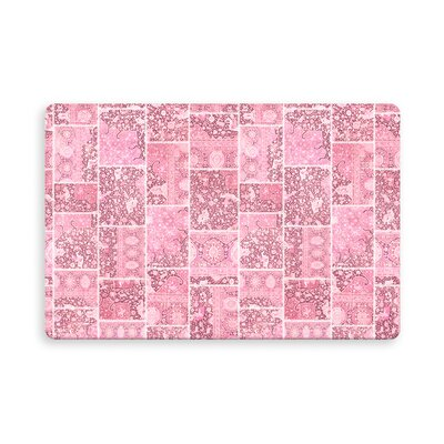 Houston Patchwork Indoor/Outdoor Doormat Mat Size: Rectangle 26 x 42, Color: Pink