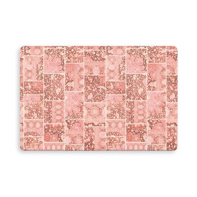 Houston Patchwork Indoor/Outdoor Doormat Mat Size: Rectangle 16 x 23, Color: Peach