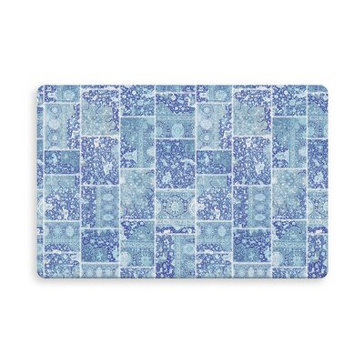 Houston Patchwork Indoor/Outdoor Doormat Mat Size: Rectangle 16 x 23, Color: Blue/Purple